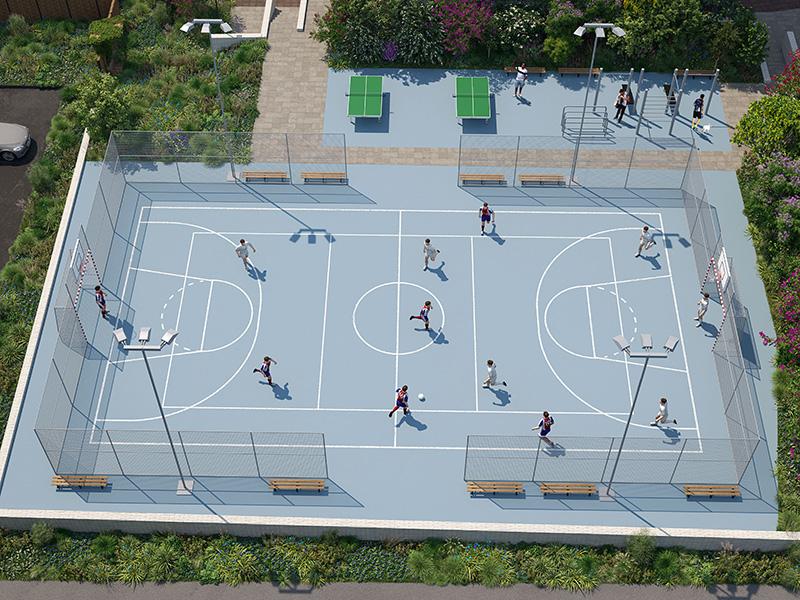 Премиум-квартал Jazz спортивная площадка
